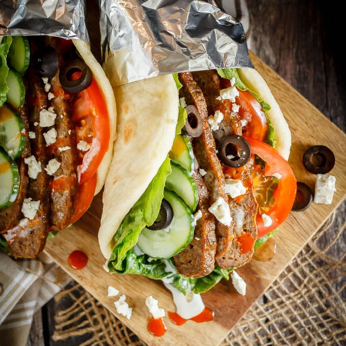 These homemade donairs (gyros) are so easy to make and the whole family will love them! Serve them with flatbread and lots of toppings for a fun and easy meal!