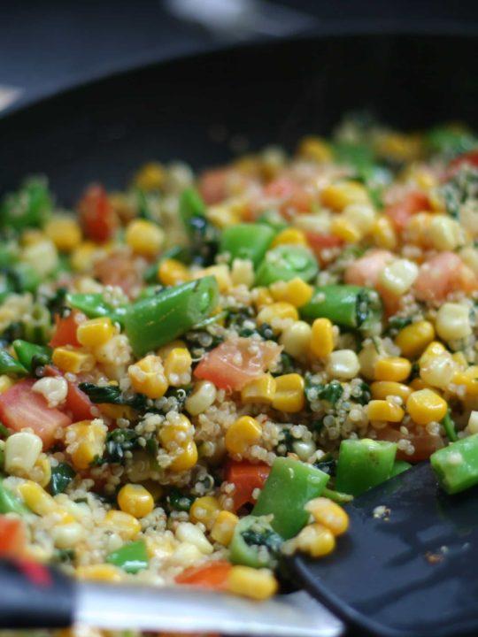 Vegetable Quinoa Stirfry