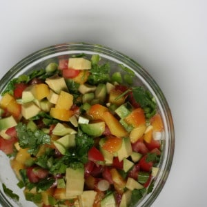 Grilled Peach and Avocado Salsa