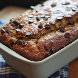 Blueberry Chocolate Chip Banana Oat Bread