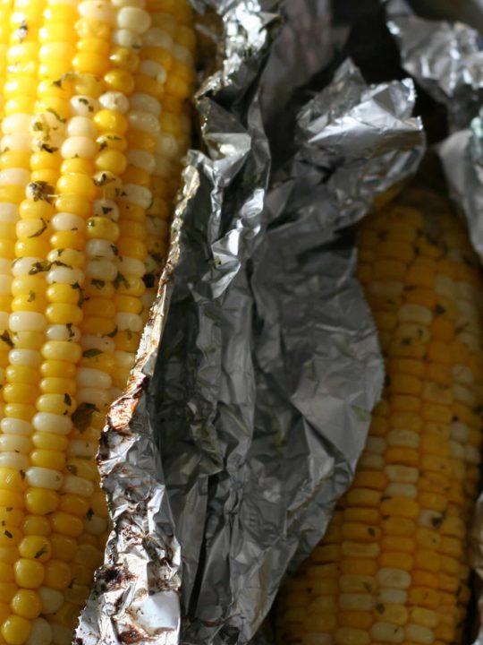 Grilled Cilantro Corn