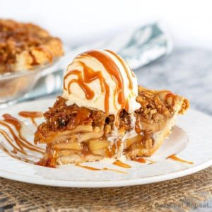 Caramel Apple Crisp Pie