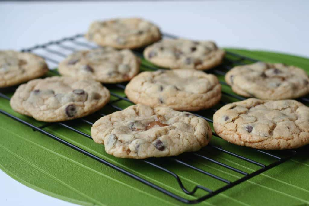 Salted Caramel Chocolate Chip Cookies - Bake.Eat.Repeat.