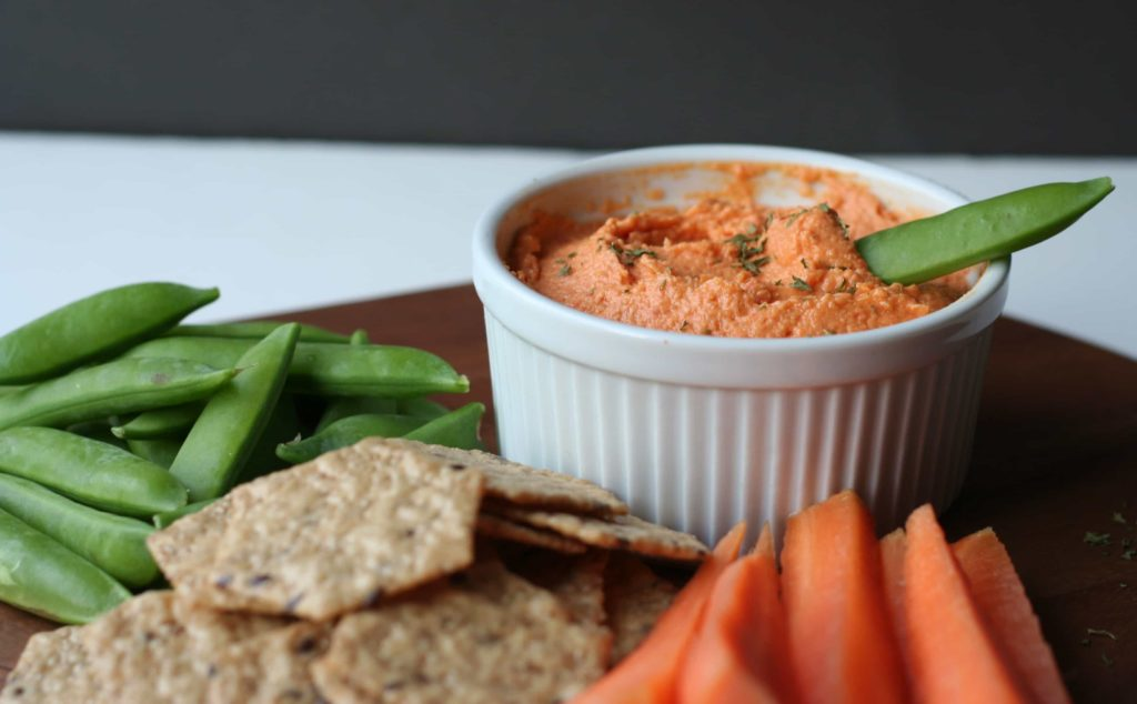 Roasted Red Pepper Hummus - Bake.Eat.Repeat.