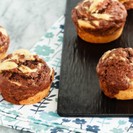 Marbled Chocolate Banana Muffins