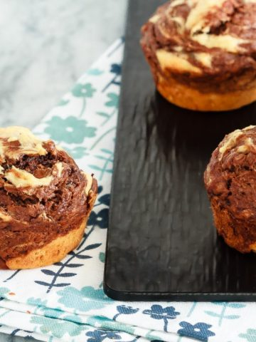 Marbled Chocolate Banana Muffins