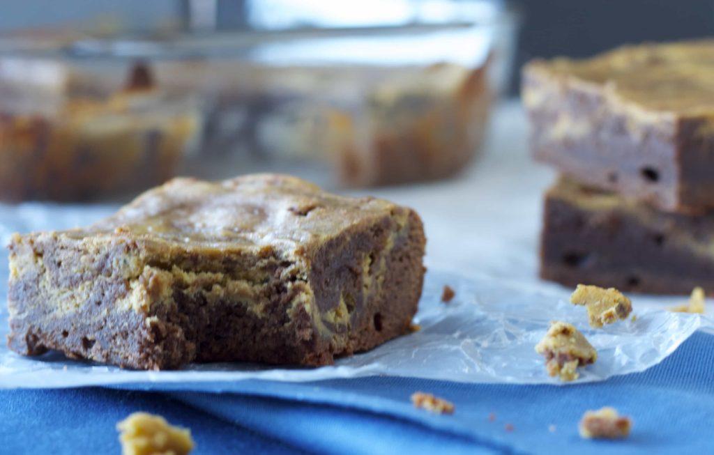 Pumpkin Cheesecake Swirled Brownies - Bake.Eat.Repeat.