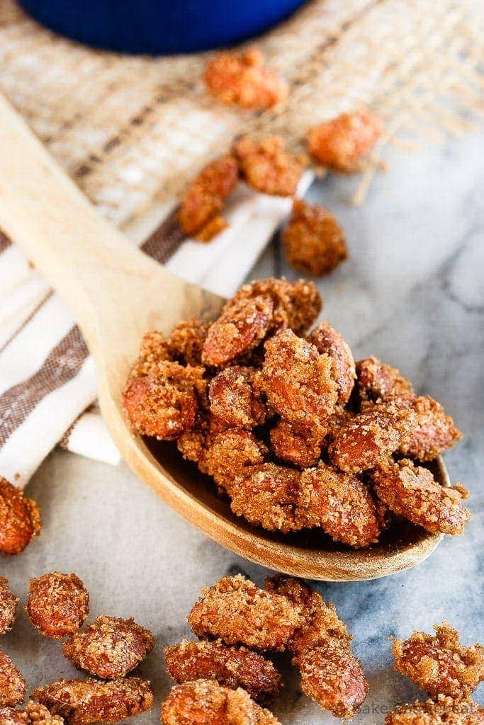 These easy to make candied almonds make the perfect snack!