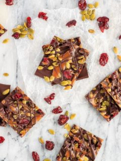 This cranberry, pumpkin seed and salted caramel bark is a super quick and easy homemade treat to make - and everyone will love it!