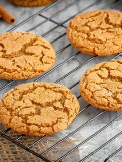 These soft and chewy ginger cookies are one of our favourite Christmas cookies. So fast and easy to make and everyone loves them!