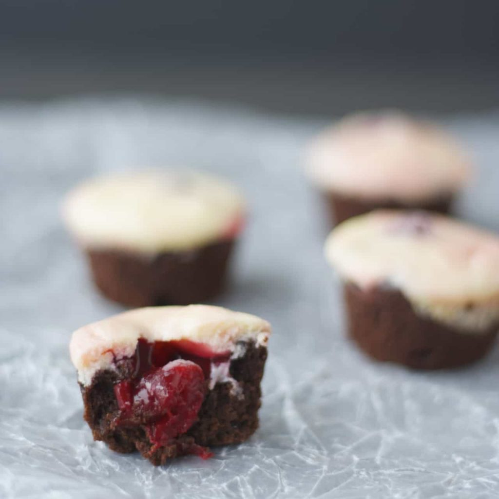 Cherry Cheesecake Brownie Bites -5