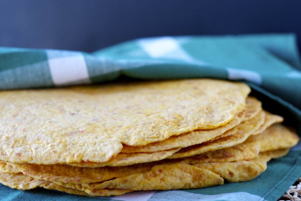 Roasted Red Pepper Tortillas - Bake.Eat.Repeat.