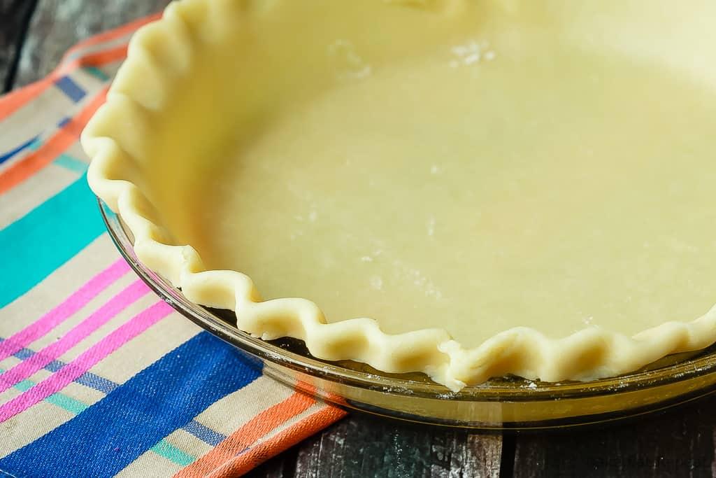 Homemade pie dough