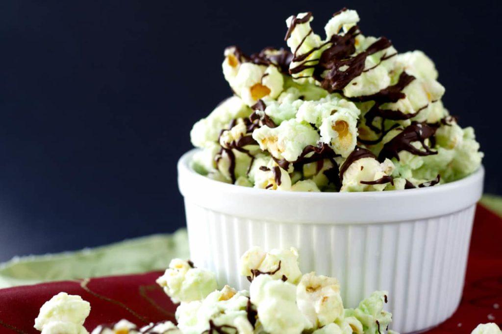 Chocolate Mint Popcorn