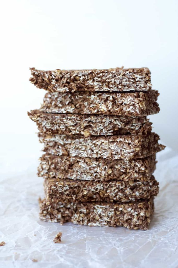 Chocolate macaroon granola bars