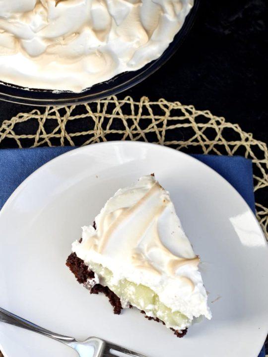 Lemon Meringue Brownie Pie