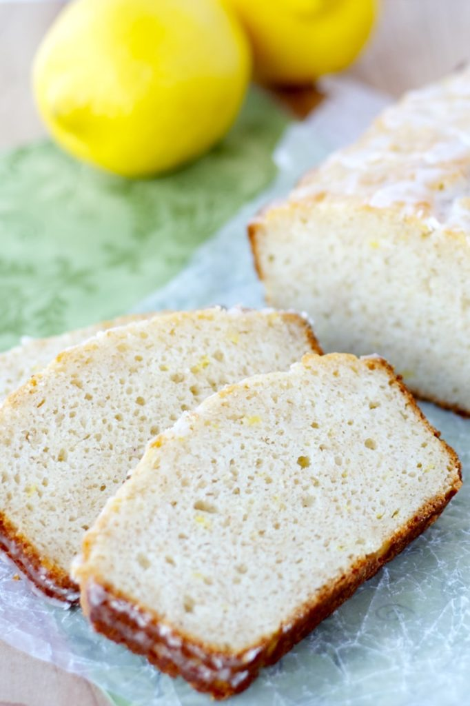 Lemon Yogurt Bread - Healthy, whole wheat lemon yogurt bread with a delectable lemon glaze. Quick, easy and healthy for the perfect breakfast or snack!