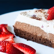 Triple Chocolate Strawberry Mousse Cake