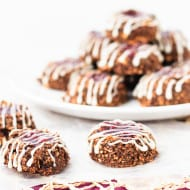 Healthy Chocolate Cherry Thumbprint Cookies