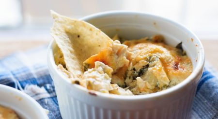 Hot Crab, Spinach and Artichoke Dip - Easy hot baked crab, spinach and artichoke dip that you will not be able to stop eating! Having a party? Or a Friday night? You need this cheesy dip!