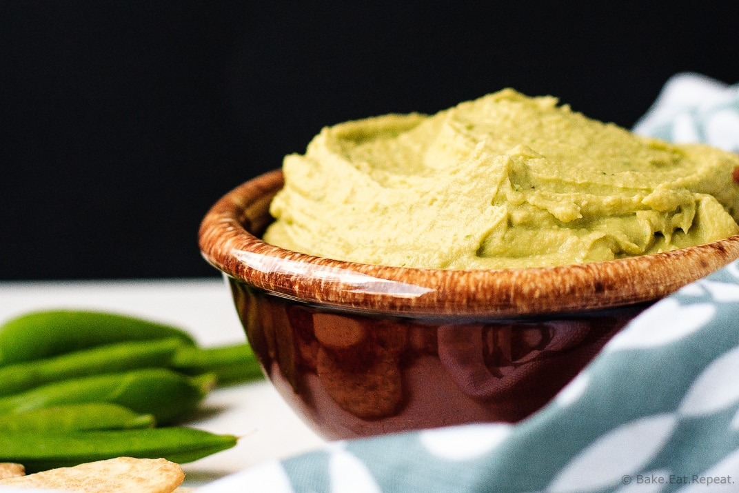 Avocado Hummus - Smooth and creamy avocado hummus - a quick and easy dip that is full of flavour and a healthy snack.
