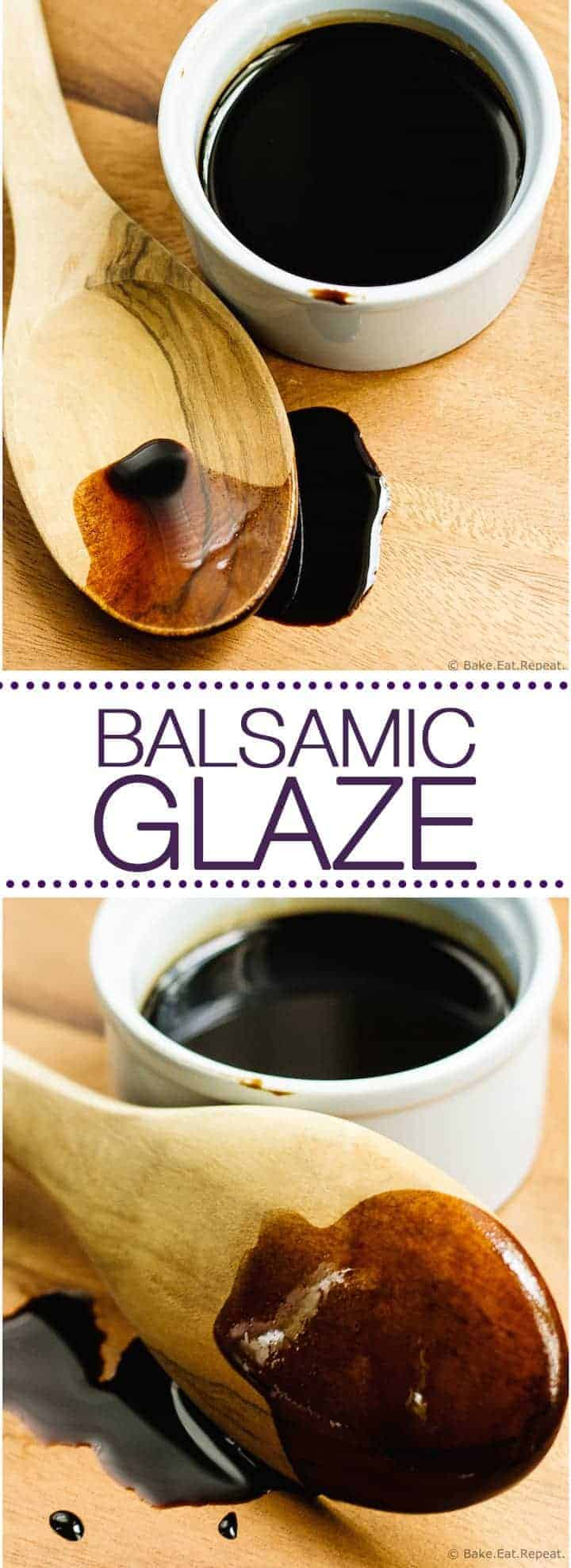Easy to make, homemade balsamic glaze. The perfect condiment!