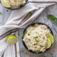 Coconut Lime Rice
