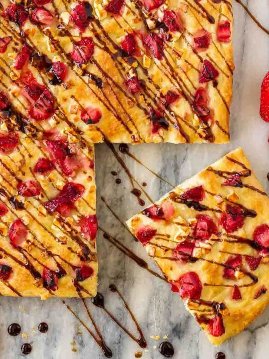 Easy Focaccia with Strawberries and Feta