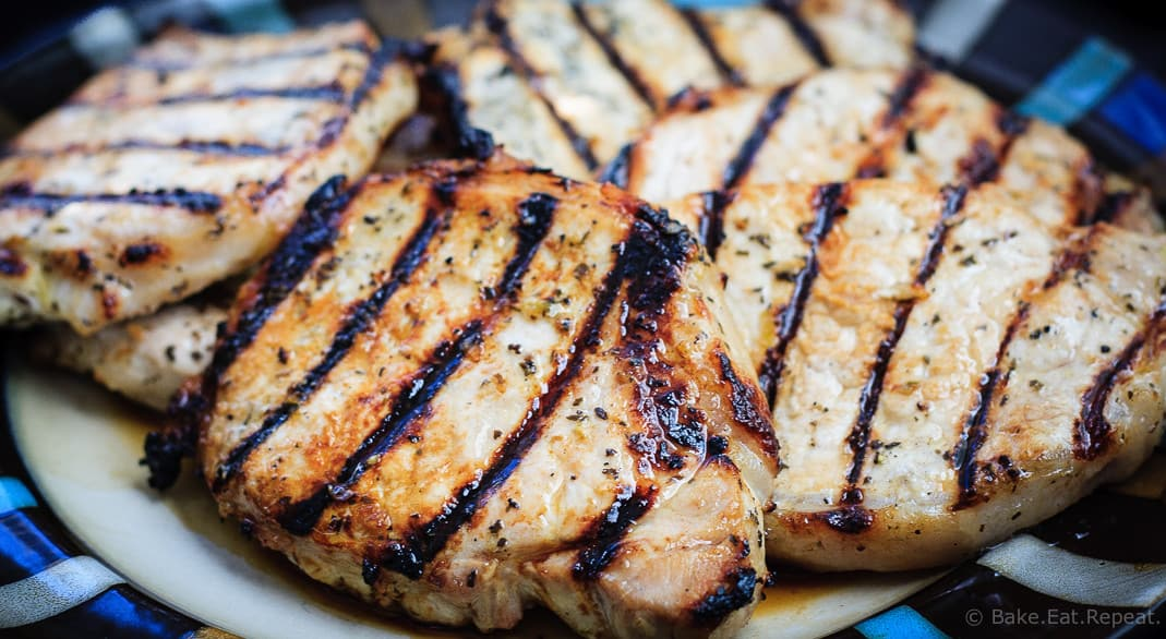 Honey Lime Grilled Pork Chops - Tender and juicy honey lime marinated pork chops that are quick and easy to grill up for the perfect summer meal!