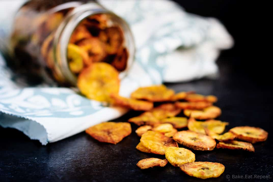 Plantain Chips - Quick and easy plantain chips - crunchy and crispy and perfect to snack on!