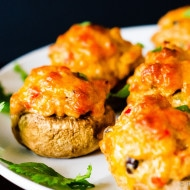 Cheesy Taco Stuffed Mushrooms