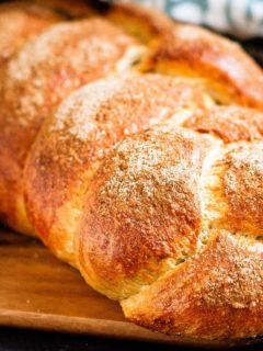 Cinnamon Challah - Easy to make, and absolutely perfect for French toast, this cinnamon challah bread is on the