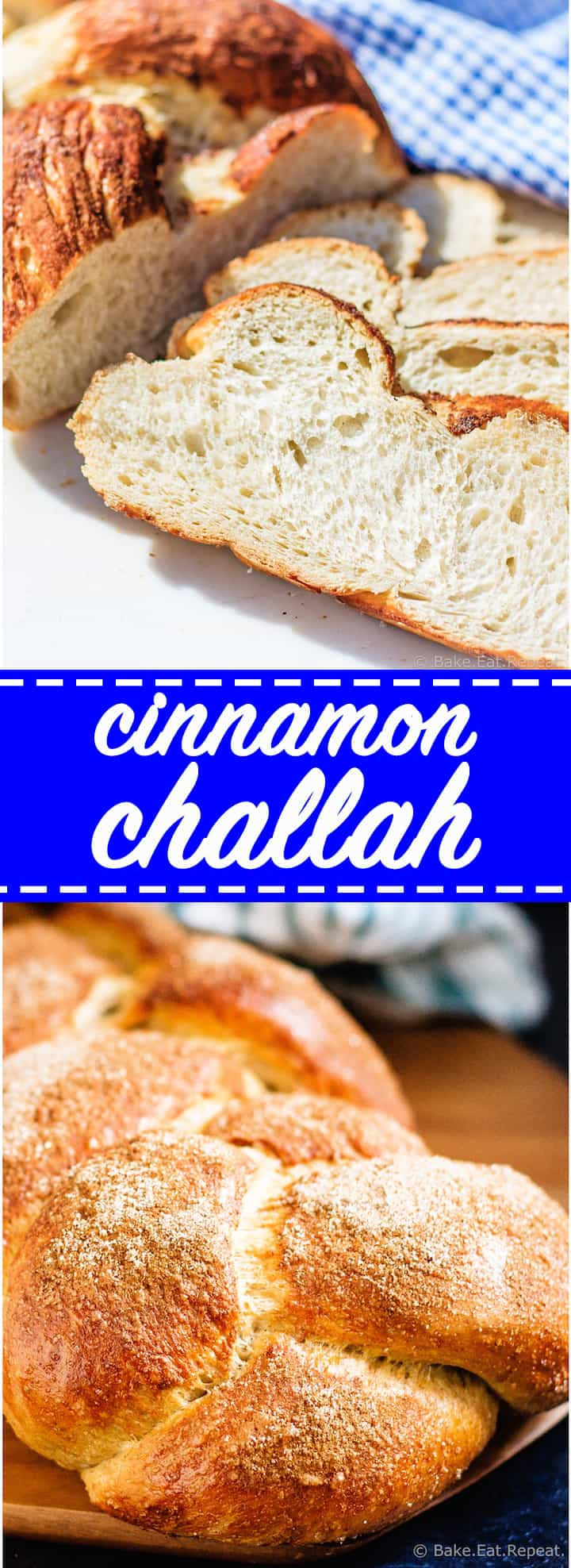 Easy to make homemade cinnamon challah bread!