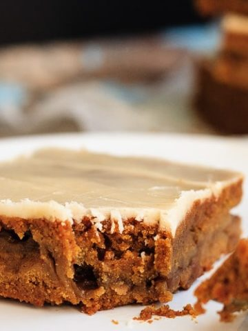 Molasses Apple Bars with a Brown Butter Glaze
