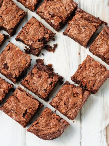 Peanut Butter and Salted Caramel Brownies
