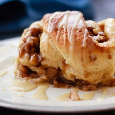 Apple Cinnamon Sweet Rolls with a Maple Glaze