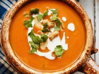 This easy to make, slow cooker Thai pumpkin soup is a bit spicy, a bit creamy, and absolutely amazing. The perfect meal for a cold fall day!