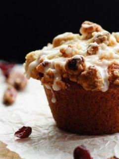 Eggnog Cranberry Orange Muffins - Tender, flavourful, amazing eggnog cranberry orange muffins - perfect for your Christmas breakfast plans!
