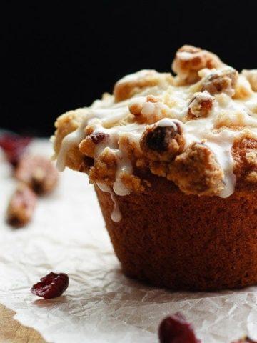 Eggnog Cranberry Orange Muffins