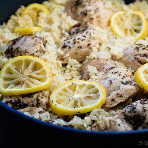 One Pot Lemon Thyme Chicken and Rice
