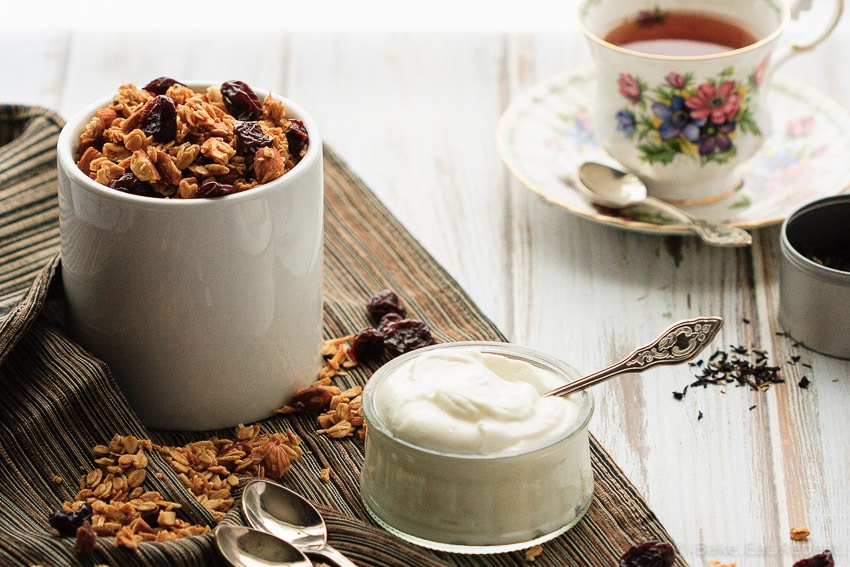 Cherry Almond Granola - Homemade cherry almond granola - healthier and tastier then the store-bought kind - and so easy to make!