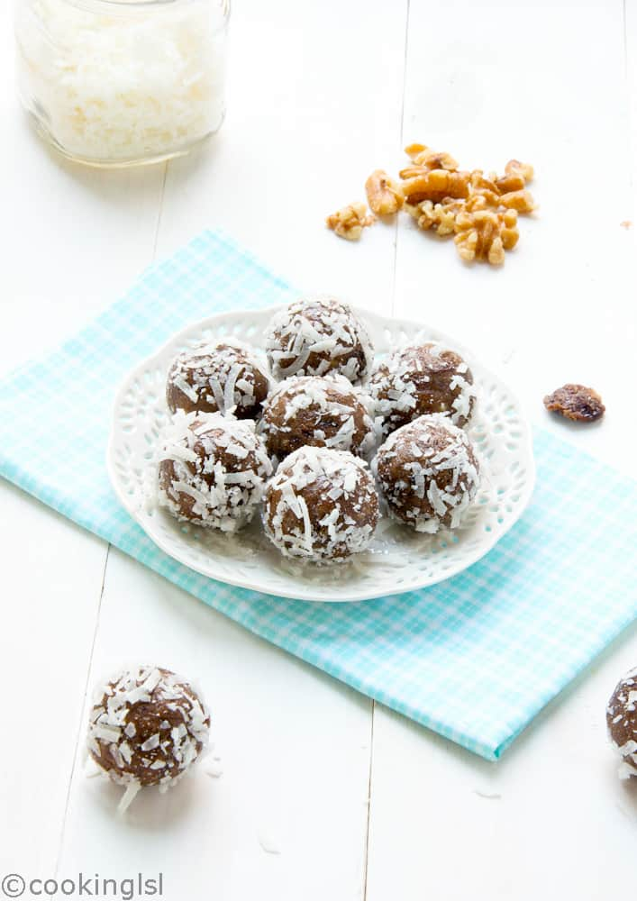 Date cherry protein energy balls - cooking lsl