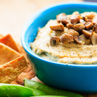 Roasted Garlic and Mushroom Hummus