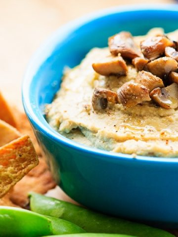 Roasted Garlic and Mushroom Hummus