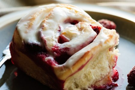 Lemon Raspberry Sweet Rolls - Tender sweet roll dough filled with a lemon raspberry filling and topped with a sweet lemon glaze, these lemon raspberry sweet rolls make a fantastic special breakfast!
