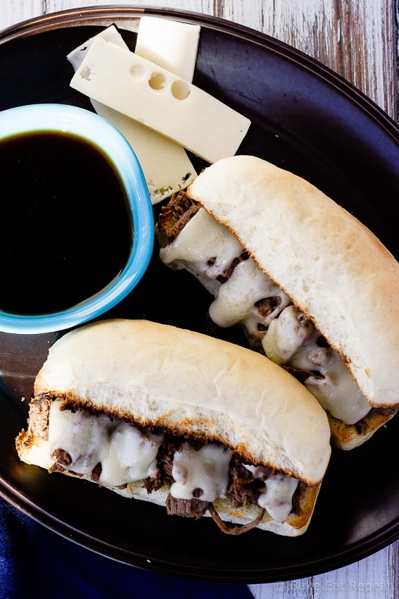 Slow Cooker French Dip Sandwiches - Easy, amazing, slow cooker French Dip Sandwiches - you will make these again and again!
