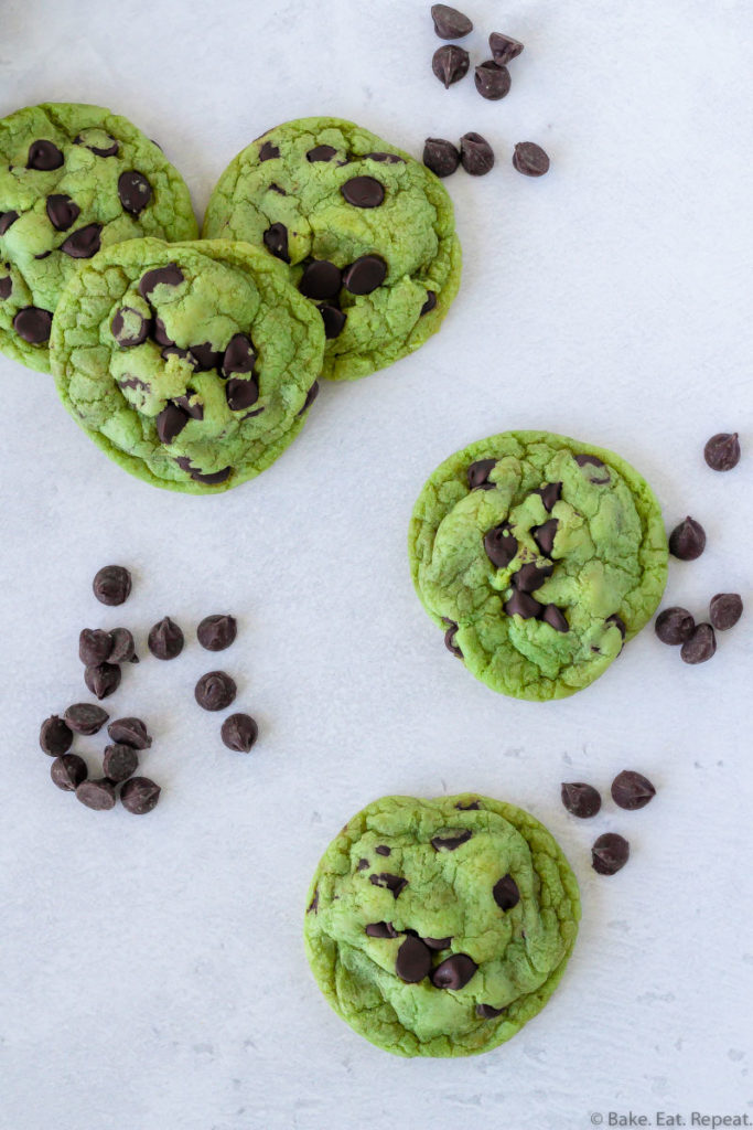chewy mint chip cookies