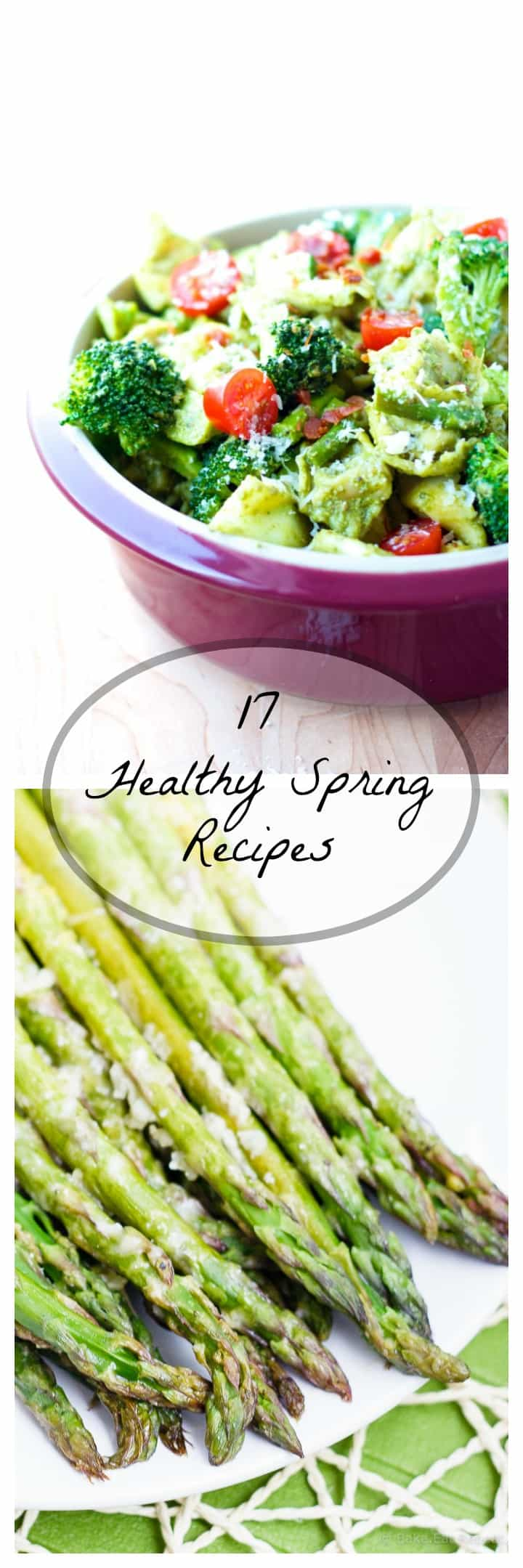 17 Healthy Spring Recipes - 17 healthy spring recipes filled with all the wonderful, bright green things that can be found - because spring means all the green things, all the time!