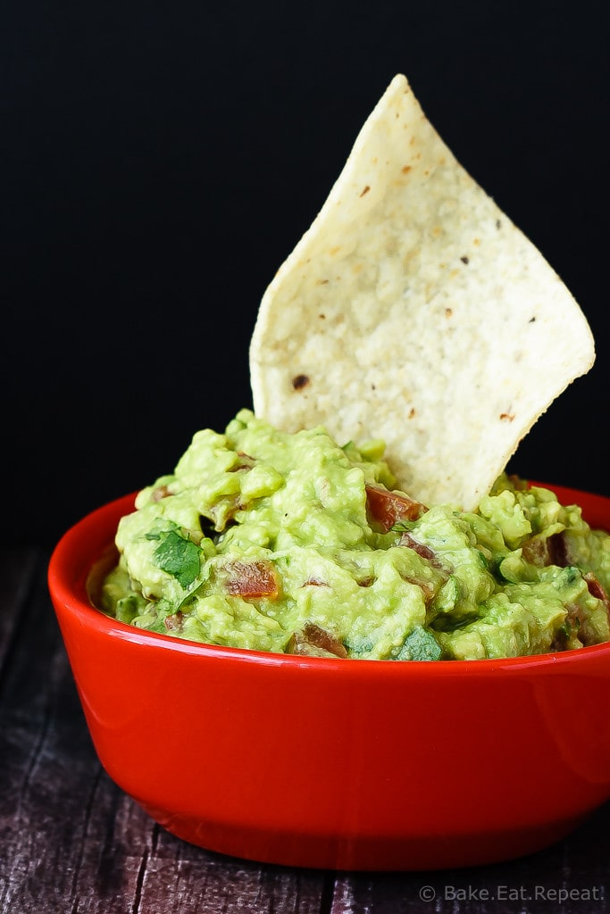 Guacamole - Quick and easy guacamole - so easy to make and so good that you will never want to buy it again! It's the perfect snack or appetizer!
