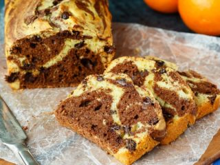Marbled Chocolate Orange Bread - This marbled chocolate orange bread is an easy quick bread that is light and fluffy and full of chocolate and orange flavour.